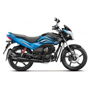 Hero Passion-X-Pro 110 CC Motorcycle - Black With Frost Blue