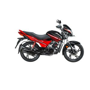 Hero Ignitor 125CC Motorcycle - Black With Sports Red Black
