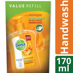 Dettol Handwash 170ml Pouch Re-energize