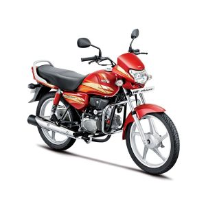 Hero HF Deluxe 100 CC Motorcycle - Candy Blazing Red (Kick)