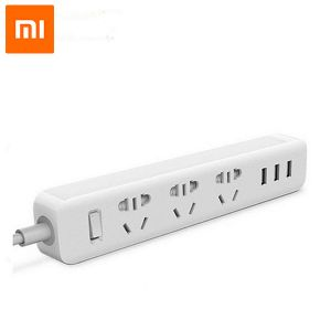 MI Power strip Outlet Socket 3 USB multi charger - White