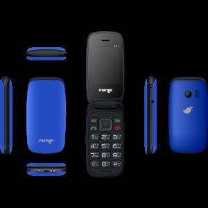 Mango MF1 - Folding Feature Phone - Money Detector - MTK Chipset - Dual SIM - Blue
