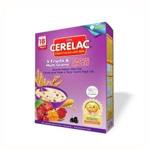 Nestlé Cerelac 5 Fruits and Multi Grains BIB - 350 gm