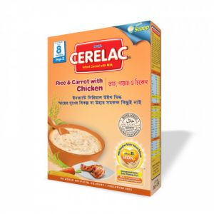 Nestlé Cerelac Rice and Carrot with Chicken BIB - 350 gm