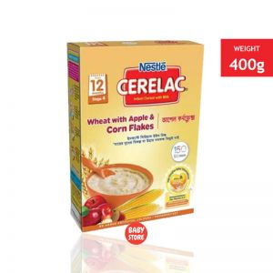 Nestlé Cerelac BIB Wheat Apple Corn Flakes - 400g