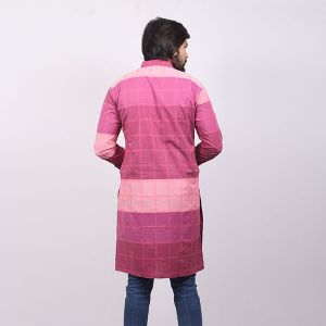 Pink Cotton Panjabi For Men