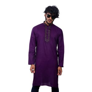 Perple Chinigura  Cotton Panjabi For Men