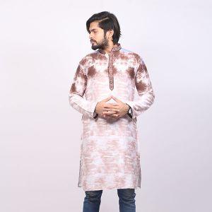 Multi Colour  Printed  Cotton Panjabi For Men