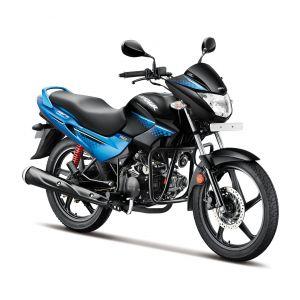 Hero Glamour 125 CC Motorcycle - Tecno Blue Metalic Black