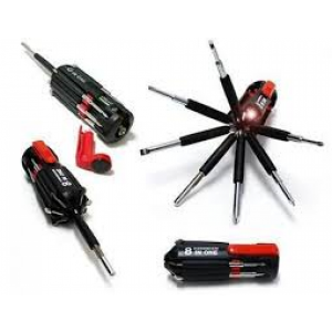 8 In 1 Multi Screwdriver With Powerful Torch